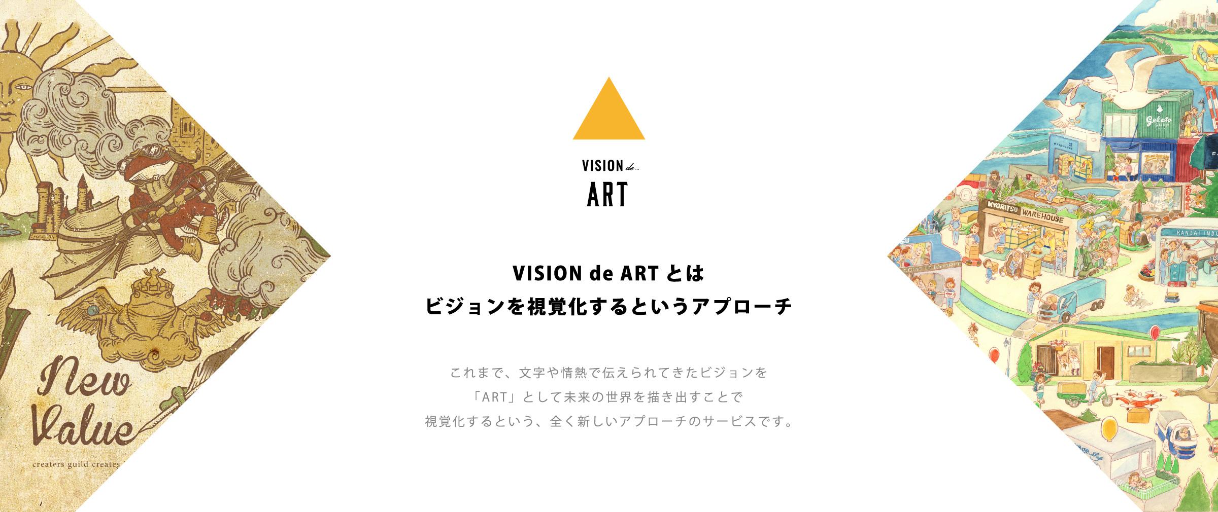 VISION de ARTとはビジョンを視覚化するというアプローチ